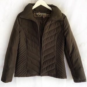 Kenneth Cole reaction brown dowb jacket medium